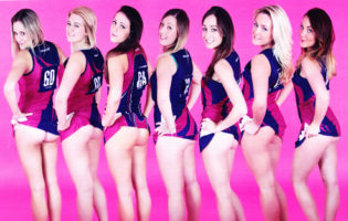 Girls sports teams lift up their skirts and show off their asses for a charity calendar