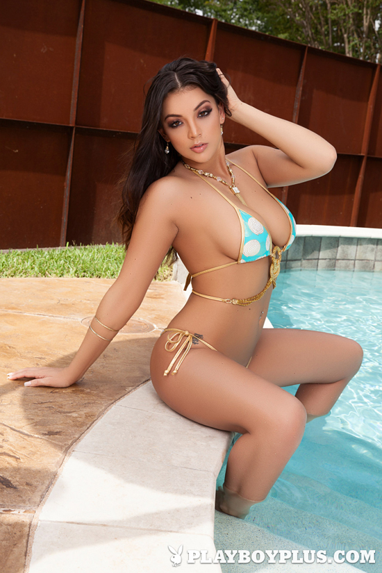 Kelsi Shay poses in a bikini for Playboy