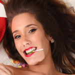 Eva Lovia Gets Nude with Candy