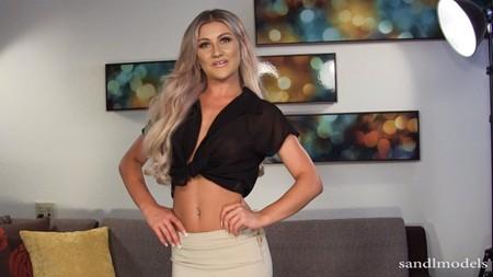 Hot blonde girl Kendall teases for Sandlmodels