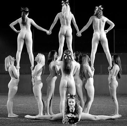 Cheerleaders strip naked for a charity calendar