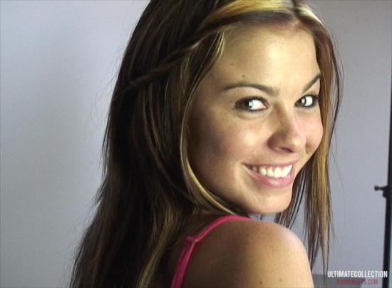 Kari Sweets Smiles in her Hokies Panties
