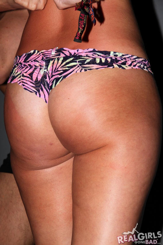 Real girls shows off her cute ass in a club