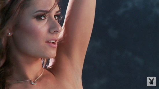Raquel is enjoying posing naked for Playboy