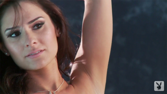 Raquel Robin poses for the Los Angeles Playboy casting call