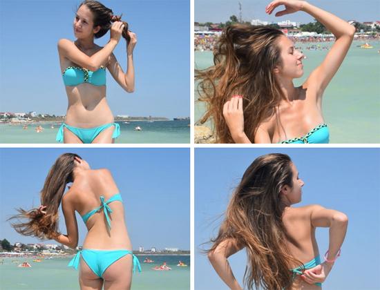 Georgiana in a turquoise bikini for UGotItFlauntIt