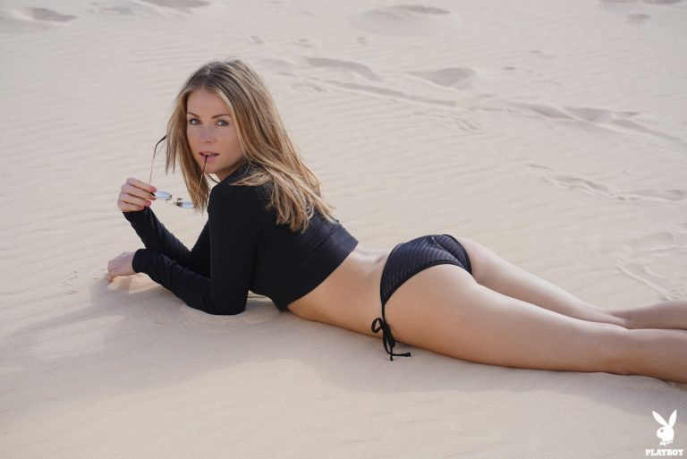 Playboy Playmate Kamila Joanna unties and bikini bottoms