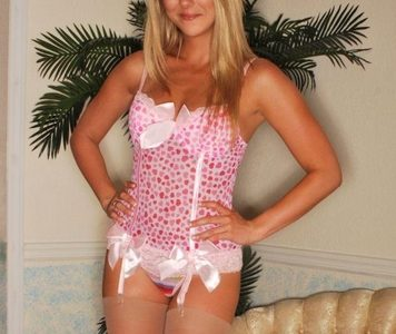 Brooke Marks in lingerie